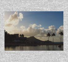Early Morning Start in Waikiki, Honolulu, Hawaii One Piece - Long Sleeve