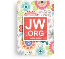 JW.ORG LOGO ORANGE FLORAL Canvas Print