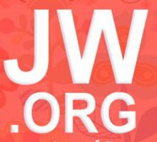 JW.ORG LOGO ORANGE FLORAL Sticker