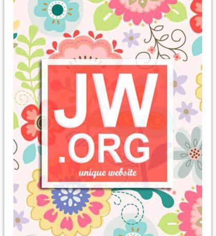 JW.ORG LOGO ORANGE FLORAL Sticker