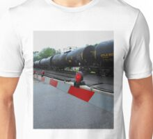 Press the pedal to the metal..I swear that danger runs in my blood..Under the gun Unisex T-Shirt