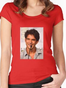 Cute Tyler Posey smile Women's Fitted Scoop T-Shirt