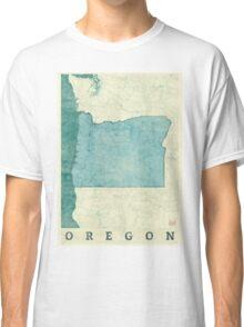 Oregon Map Blue Vintage Classic T-Shirt