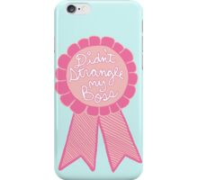 Didn't strangle my boss office work business prize adult tumblr ribbon award iPhone Case/Skin
