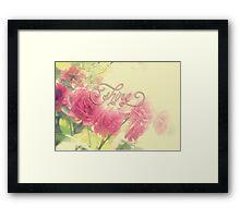 Beautiful Pink English Roses Shine Matte Sunlight Rays Framed Print