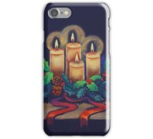 Merry Christmas - advent wreath is for you! iPhone Case/Skin