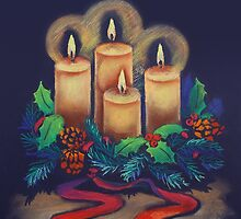 Merry Christmas - advent wreath is for you! by farawayart