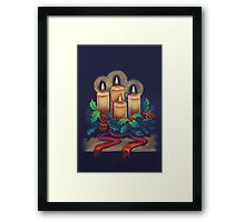 Merry Christmas - advent wreath is for you! Framed Print