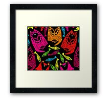 wolf, fox and fish #2 Framed Print