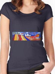 Art for children Women's Fitted Scoop T-Shirt