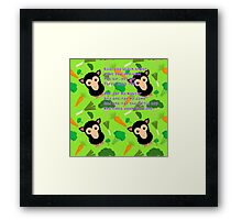 Baa, baa black sheep Framed Print