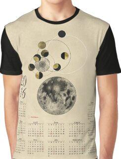 2016 Full Moon Calendar Graphic T-Shirt