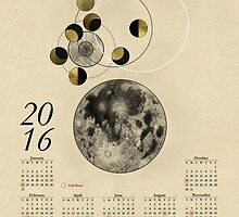 2016 Full Moon Calendar by Arell