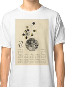 2016 Full Moon Calendar Classic T-Shirt