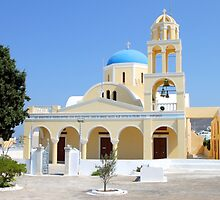 Church, Oia, Santorini, Greek Islands by Carole-Anne
