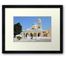 Church, Oia, Santorini, Greek Islands Framed Print