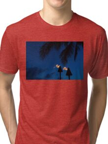 Time to Party - Tiki Torches on the Beach Tri-blend T-Shirt