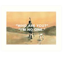 The Girl and The Droid Art Print