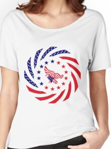 Independent Murican Patriot Flag Series Women's Relaxed Fit T-Shirt