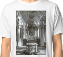 Ebersmunster Abbey Cathedral majestic interior, baroque style, Alsace, France Classic T-Shirt