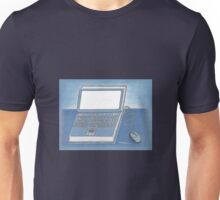 Book and computer Unisex T-Shirt