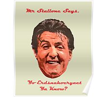 Mr. Stallone Says Poster