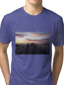 Grange Beach Sunset Tri-blend T-Shirt