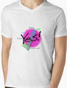 Yes! The Answer's Yes Mens V-Neck T-Shirt