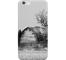 Behind The Barn BW iPhone Case/Skin
