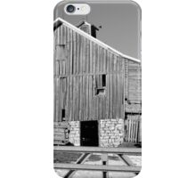 Hickory Avenue Barn BW iPhone Case/Skin