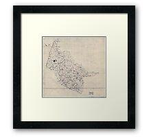 Civil War Maps 2000 Map of Hanover County Va Framed Print