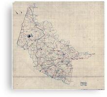 Civil War Maps 2000 Map of Hanover County Va Canvas Print
