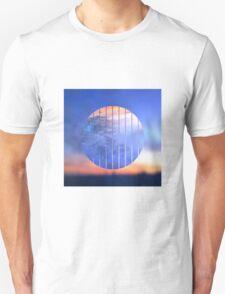 Sunset Starry Night Sky Blue Orange Geometric Abstract T-Shirt
