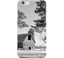 Frosty Cedar Barn BW iPhone Case/Skin