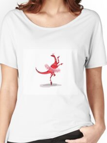 Illustration of a ballerina dancing raptor. Women's Relaxed Fit T-Shirt