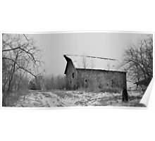 Packard Ave Barn BW Poster