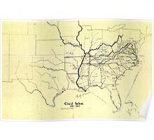 Civil War Maps 0279 Civil War 1861-1865 Inverted Poster