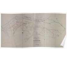 Civil War Maps 1650 Sketch of the Confederate and Federal lines around Petersburg Poster
