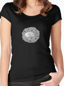 Sleeping Owlephant Women's Fitted Scoop T-Shirt