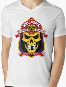 Keldor's Bitter - Grayskull Brewing Company - Skeletor Mens V-Neck T-Shirt