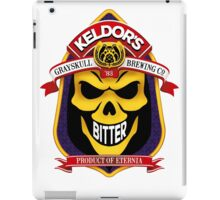 Keldor's Bitter - Grayskull Brewing Company - Skeletor iPad Case/Skin