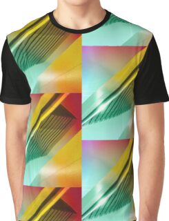 Colorful Modern Building Urban City Abstract Geometric Gradation Graphic T-Shirt