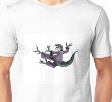 Illustration of a Raptor performing karate. Unisex T-Shirt