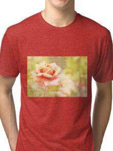 Song of Spring Lovely Pale Orange Rose Music Tri-blend T-Shirt