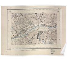 Civil War Maps 1595 Sierre Poster