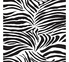 Black and white striped zebra animal seamless vector print Photographic Print
