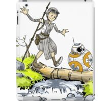 bb-8 and rey calvin and hobbes iPad Case/Skin