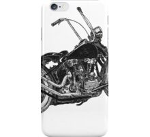 Knucklehead bobber, ink drawing  iPhone Case/Skin