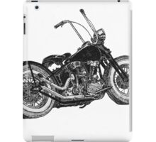 Knucklehead bobber, ink drawing  iPad Case/Skin
