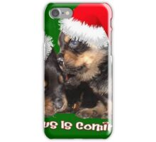 Santa Paws Is Coming To Town Christmas Greeting iPhone Case/Skin